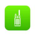 portable handheld radio icon digital green vector image vector image