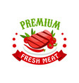 premium fresh meat logo template badge vector image vector image