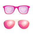 realistic 3d sunglasses pink lenses woman dream vector image vector image