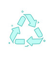 recycle icon design vector image vector image