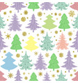 seamless christmas pattern with colorful vector image