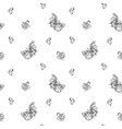 seamless pattern with abstract swans vector image