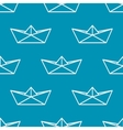 Seamless pattern with paper boats vector image