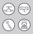 set mechanical tool to repair service vector image vector image