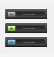 set of sliders and switches block and unlock vector image vector image