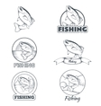 Set of trout banners vector image vector image