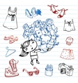 Shopping Hipsters doodle set vector image vector image
