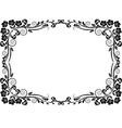 silhouette frame flowers vector image vector image