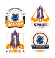 spacecraft and pressure suit space exploration vector image vector image