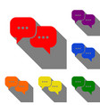 speech bubbles sign set of red orange yellow vector image