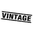 square grunge black vintage stamp vector image vector image