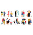 stages family vector image vector image