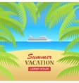 Summer Vacation on Seaside Concept vector image vector image