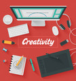 Trendy Flat Design Creativity vector image vector image
