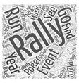 What Is A Motorcycle Rally Word Cloud Concept vector image vector image