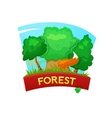 Forest concept design vector image