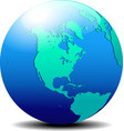 North and South America Map of the World Globe vector image