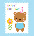 cute with a bear vector image