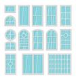 windows 3d flat cartoon set isolated on white vector image