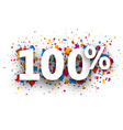 100 sign vector image vector image