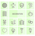 14 decoration icons vector image vector image