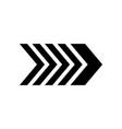 arrow big black icon arrow icon cursor modern vector image vector image