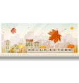 autumn cityscape background vector image vector image