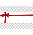banner template with red bow and ribbon vector image