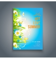 Blue summer template vector image vector image