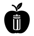 bottle apple icon simple black style vector image vector image