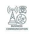 business communication line icon business vector image