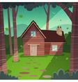 Cabin in woods vector image vector image