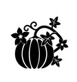 cartoon pumpkin thanksgiving day card vector image