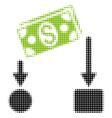 cash flow halftone icon vector image vector image