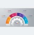 circle chart template for infographics 4 vector image