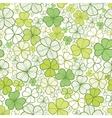Clover line art seamless pattern background vector image