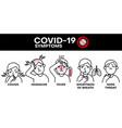 coronavirus covid19-19 symptoms vector image vector image