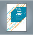cover annual report 906 vector image
