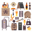 craft beer pub brewery and bar bartender pouring vector image vector image