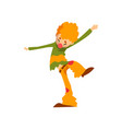cute clown cartoon character funny man performing vector image vector image