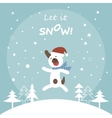 Cute Dog Jumping for joy Christmas Card vector image