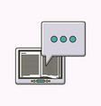 electronic book isolated icon vector image