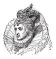 elizabeth i england vintage vector image vector image