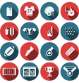 Flat icons for American football vector image