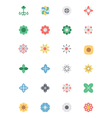 Flowers and Floral Colored Icons 2 vector image vector image