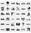 flying transport icons set simple style vector image vector image