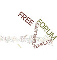 free forum templates text background word cloud vector image vector image