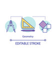 geometry lessons studies courses concept icon vector image vector image