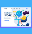 girl working at remote work flat 2d character vector image