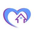 home love logo icon concept vector image vector image